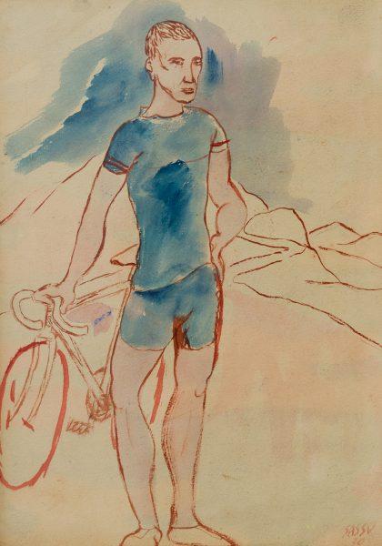 10-il-ciclista-1930-acquerello